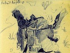 V knize Ostnaté vzpomínky vzpomíná malíř Karel Valter (1909 - 2006) na nejhorší část svého života, nacistickou okupaci a své věznění v Táboře, Terezíně a Buchenwaldu. Na snímku kresba Odhozený kabát heftlinga po osvobození Buchenwaldu.