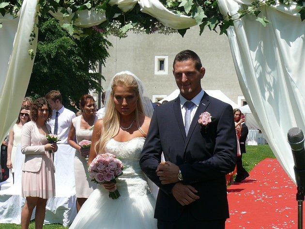Lukáš Krpálek se oženil v Bechyni s Evou Kaderkovou