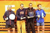 Čtveřice nejlepších hráčů Vánočního turnaje v Týně: zleva Langer, Němec, Karabec a Vávra.