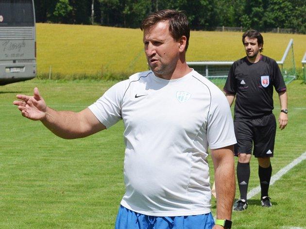 Fotbalisty Táborska i v nové sezoně povede trenér Petr Frňka.