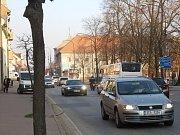 Provoz v centru Lišova.