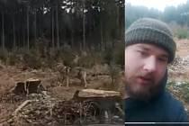 Snímky z obou videí. Na jednom z nich autor natočil i sám sebe, asi pro případ, že by ho policie stíhala pro šíření poplašné zprávy.