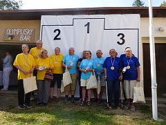 Páté olympijské hry seniorské. Tentokráte se konaly v Domově pro seniory v Horní Stropnici.