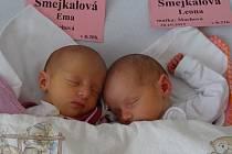 Ve středu 30. 10. 2013 v 8.20 a v 8.21 hodin přišly na svět v českobudějovické porodnici dvě holčičky: Ema Šmejkalová (s mírami 47 cm, 2,67 kg) a Leona Šmejkalová (47 cm, 2,57 kg). Bydlet budou spolu s rodiči v Jablonné u Příbrami.