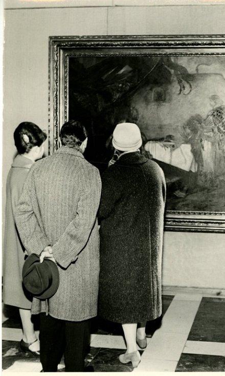Alšova jihočeská galerie slaví 60 let. Výstava prací Mikoláše Alše, 1962.