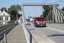 Dlouhý most v Českých Budějovicích.