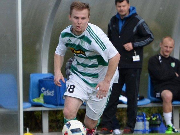 Martin Jasanský v minulém divizním kole dal za Roudné tři góly, trefí se i v posledním kole v Plzni?