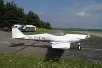 Dvoumístné sportovní letadlo Fascination F 100 s přesným označením OK PUF 36.