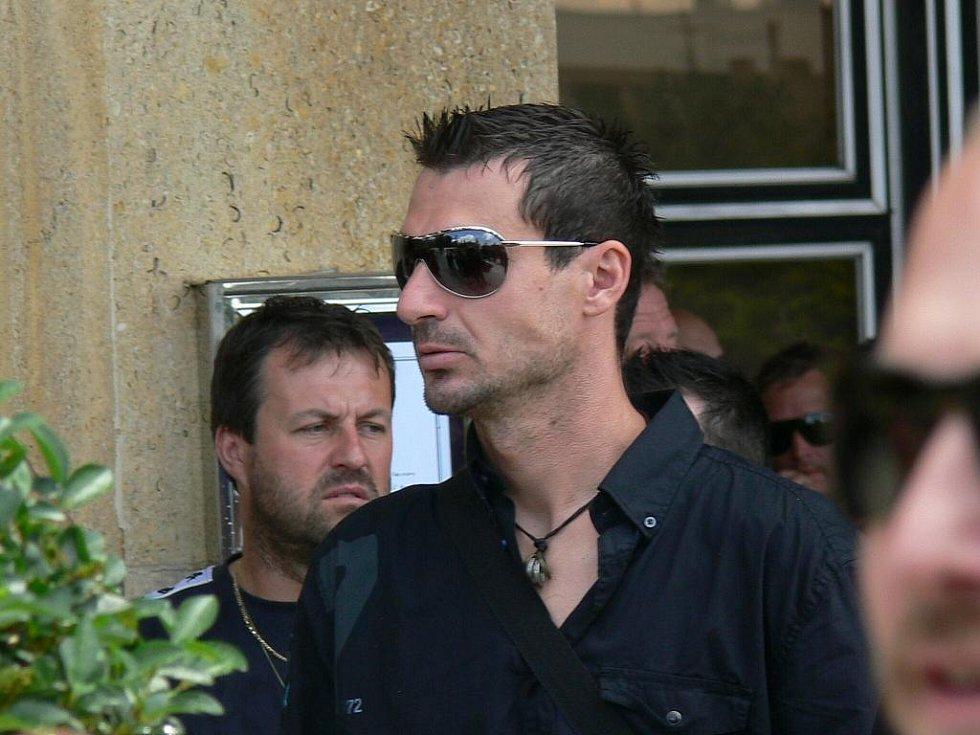 Pohřeb Daniela Fleischmana.