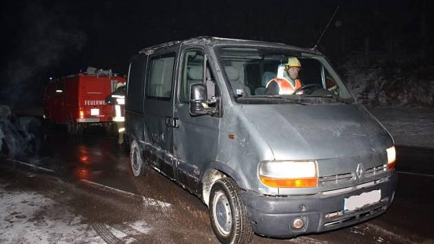 Český řidič vyvázl se štěstím.