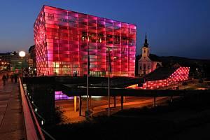 Kulturní centrum AEC v Linci.