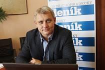 Miroslav Joch v redakci Deníku.