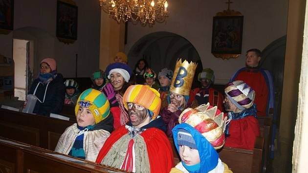 Na tříkrálovou koledu se v sobotu vydali dobrovolníci v Horní Stropnici.