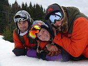 Kemp Evy Samkové u Lipna, Trojice (zleva) Petr Bohunek, Marie Bohunková a Daniel Martínek