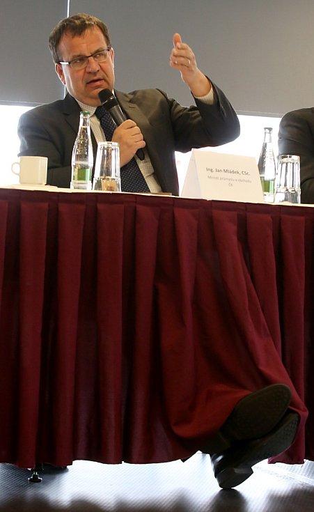 Ministr průmyslu a obchodu Jan Mládek navštívl Budějovice