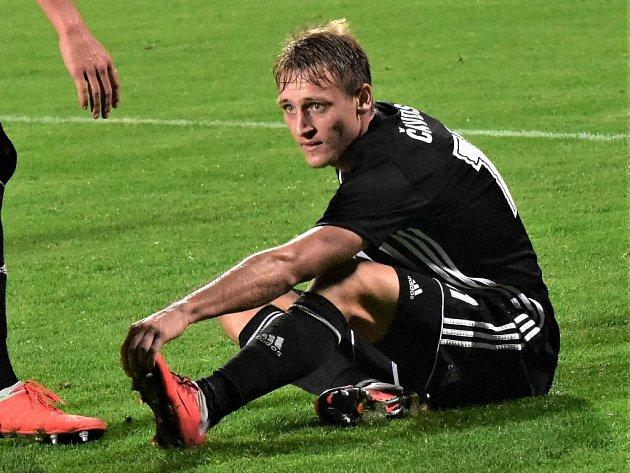 Patrik Čavoš v zápase Dynama s Jihlavou (2:0) patřil k oporám vítězů.