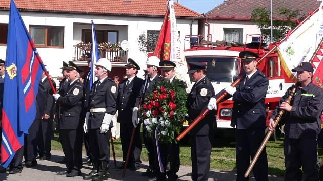 110 let od založení sboru si v sobotu připomněli hasiči v Hrdějovicích.
