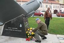 Pietní akt na budějovickém Senovážném náměstí u příležitosti Dne válečných veteránů se konal již