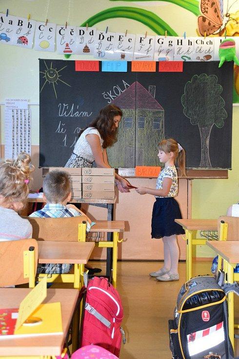 První školní den na ZŠ Boršov nad Vltavou