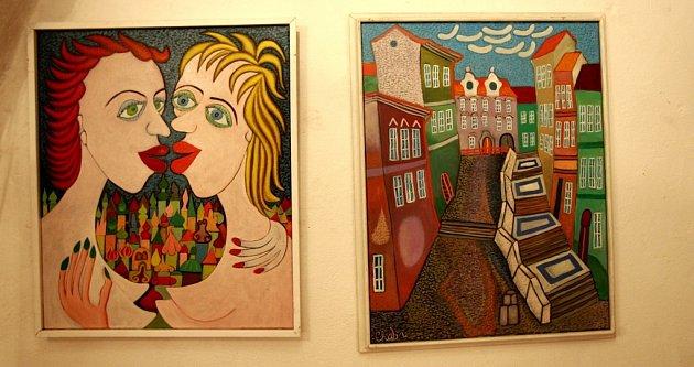 Karel Chaba je pozapomenutá osobnost českého malířství. Připomíná ho Langrův dům vJindřichově Hradci.