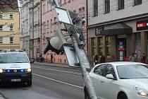 Poražený semafor v Českých Budějovicích