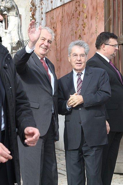 Setkání prezidentů v Krumlově.