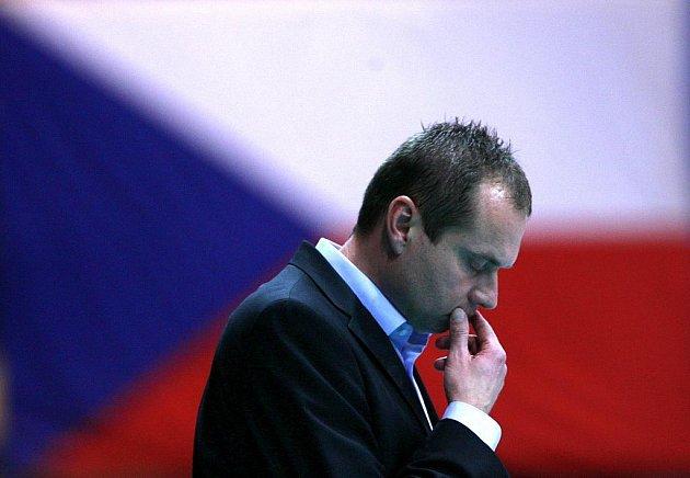 Trenér Jihostroje jan Svoboda po utkání šťastný nebyl