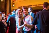 Ples volejbalistů, který se v sobotu uskutečnil v českobudějovické Besedě.