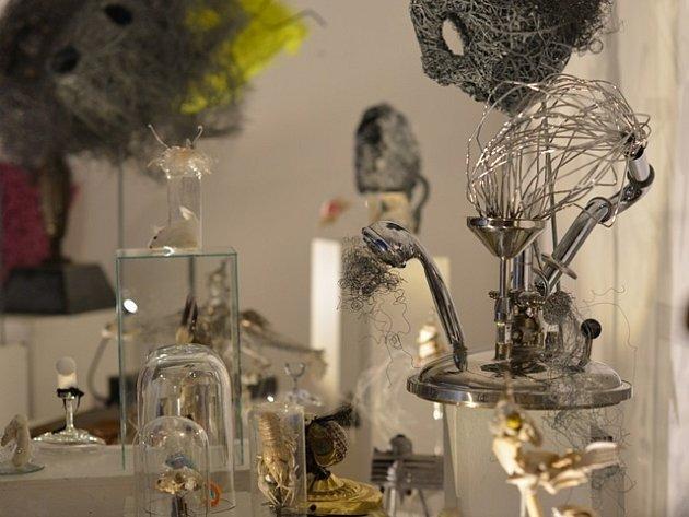 Výstava Xénie Hoffmeisterové ve Wortnerově domě.