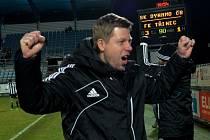 Trenér David Horejš se raduje, fotbalisté Dynama vstoupili do jara výhrou 3:1 s Třincem.