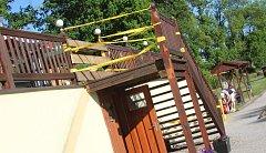 Golfový areál v Hluboké nad Vltavou, kde došlo ke zranění turistů