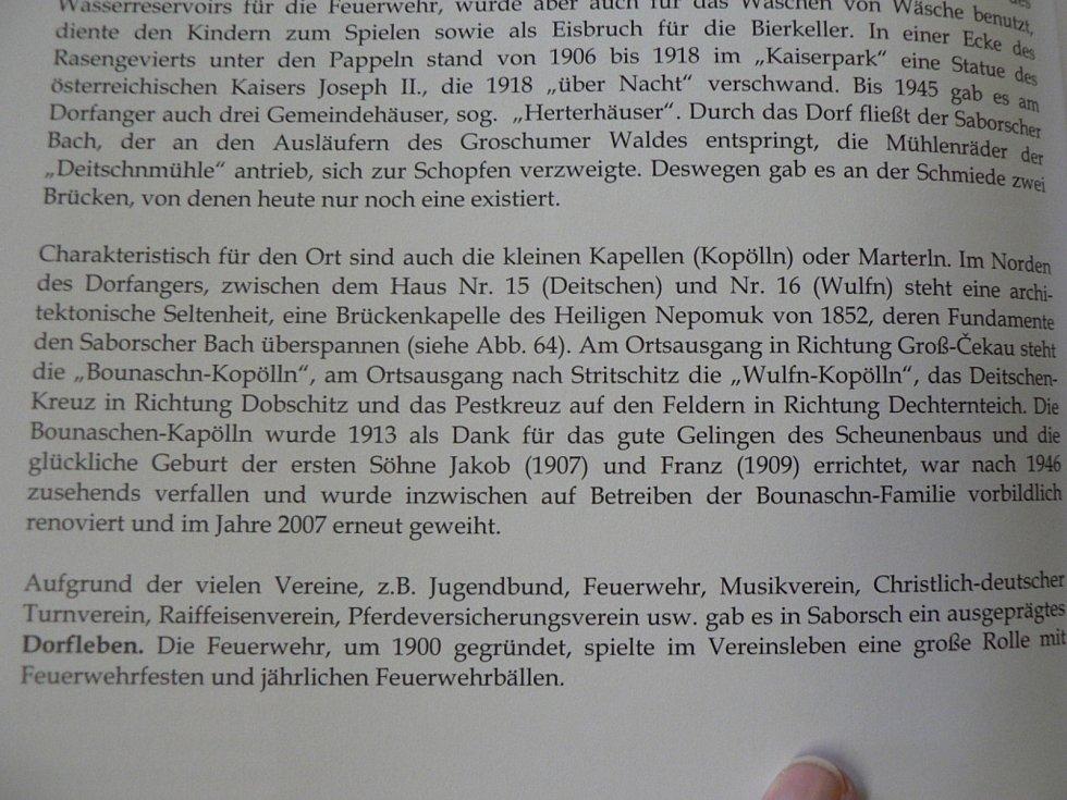 Kronika, kterou vydali potomci někdejších obyvatel obce německé národnosti.