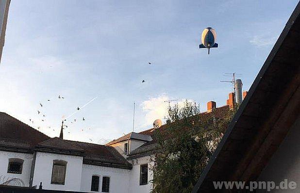 Zeppelin nad Pasovem.