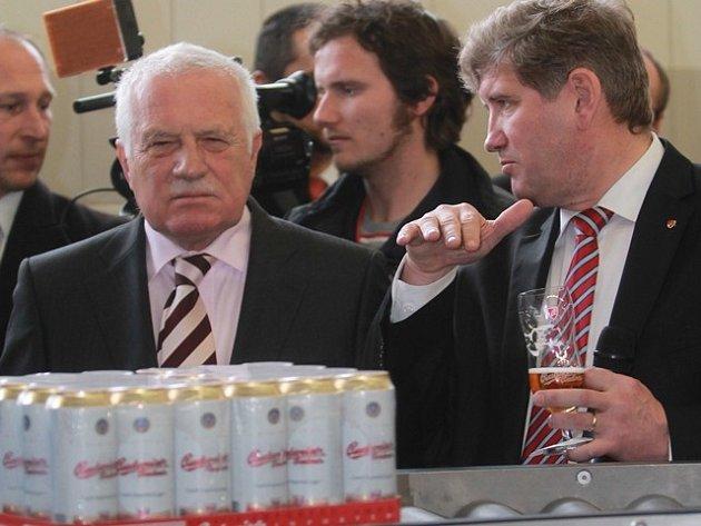 Václav Klaus v Budvaru.