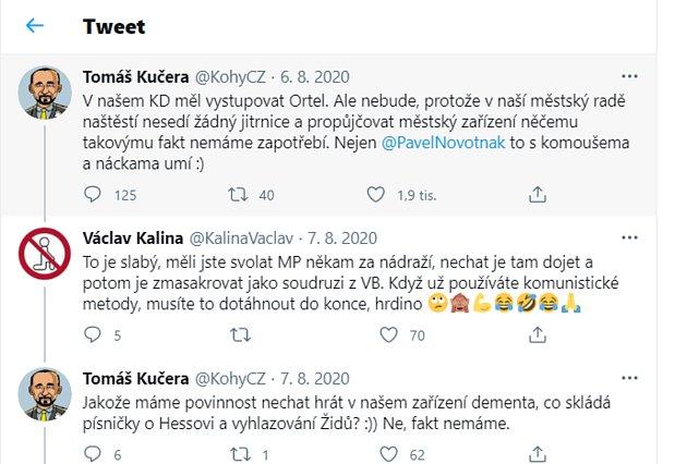 Screen slavného tweetu Tomáše Kučery.