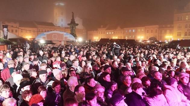Koncert TV Šlágr na českobudějovickém náměstí.