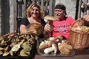 Stovky hub našli Vladimír Kumpoch a Iveta Zuklínová z Českých Budějovic,v okolí rybníka Žár na Novohradsku.
