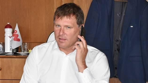 Ředitel Dukly Jihlava Jihočech Emil Kristek.