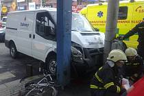 Nehoda na Pražské třídě.