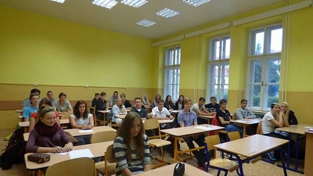 První školní den na Gymnáziu Česká v Českých Budějovicích.