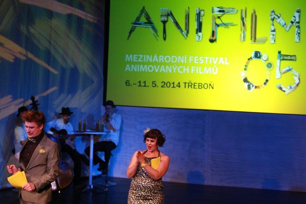 Anifilm 2014, Třeboň. Zahájení festivalu v divadle.