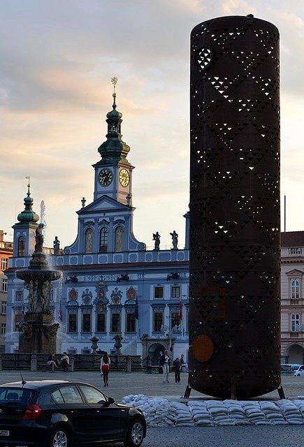 Výstava umění ve městě. Rozhledna Čestmíra Sušky.