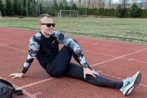 Atlet Sokola České Budějovice Jiří Polák  s olympijskými ambicemi.