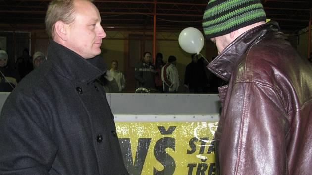 Manažer HC Motor ČB a.s. Jaroslav Brabec (vlevo)