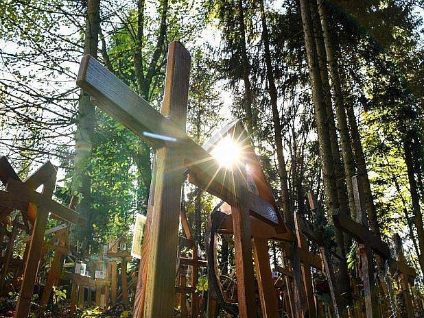 Ze hřbitova křížů vAllgäu.