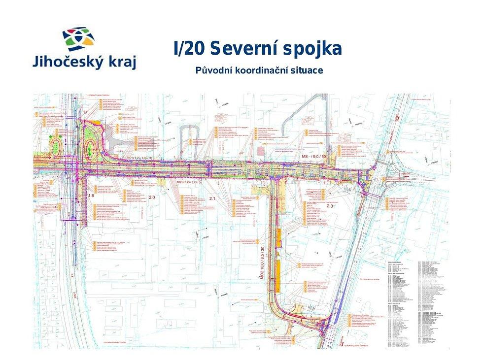 Příprava a fáze realizace staveb na silnici I/20 v gesci ŘSD České Budějovice.