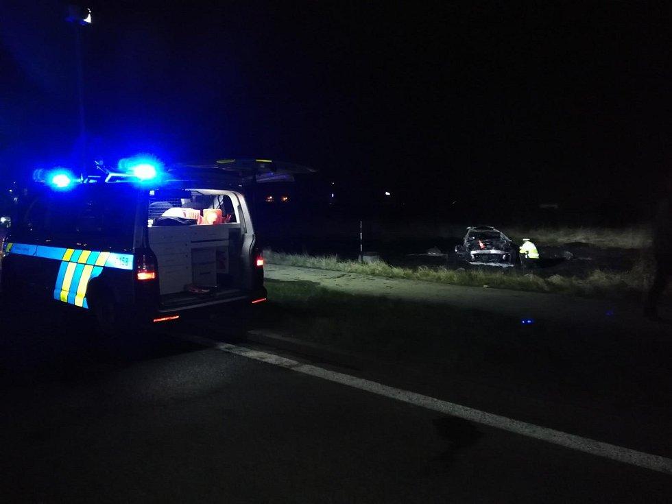 Tragická nehoda na kruhovém objezdu v Českých Budějovicích.