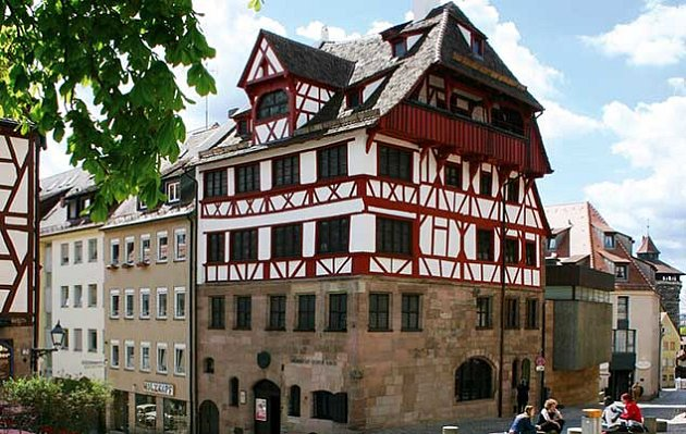 Dürerův dům v Norimberku.