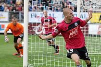 Udeněk Ondrášek se raduje ze svého gólu, který dal Spartě.
