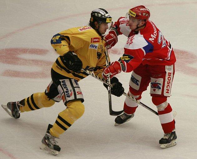 Utkání hokejové Tipsport Extraligy mezi HC České Budějovice a HC Verva Litvínov.